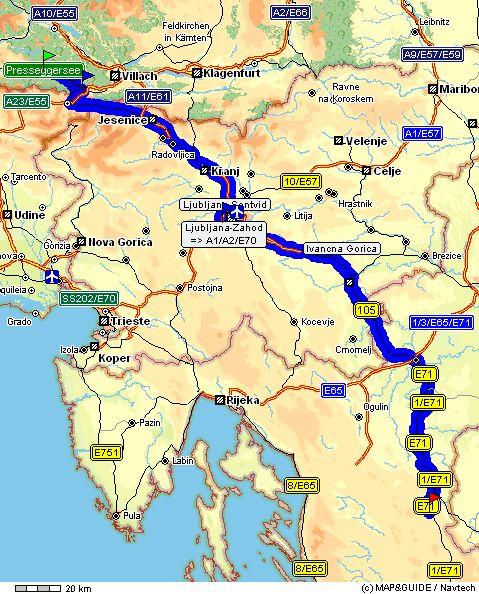 Camping Plitvice: Anreise über Hermagor Nach Plitvice